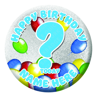 Balloon Birthday Badge