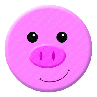 Pig Button Pin Badge