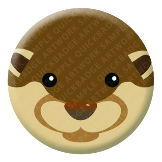 Otter Button Pin Badge