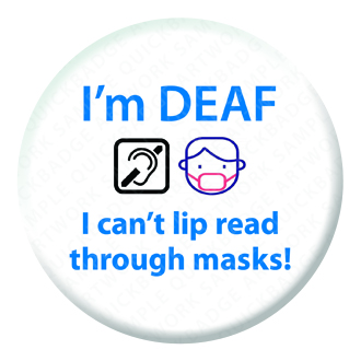 Deaf Awareness Button Pin Badge