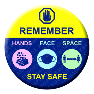 Hands Face Space - Stay Safe