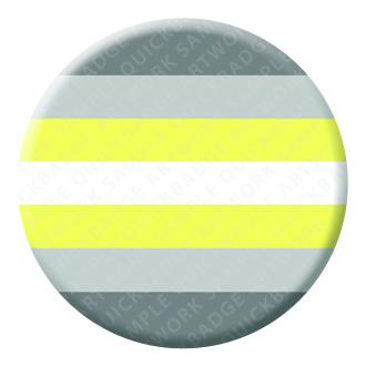 Demigender Pride Button Pin Badge