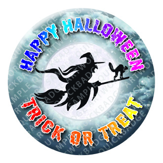 Witch Halloween Button Pin Badge