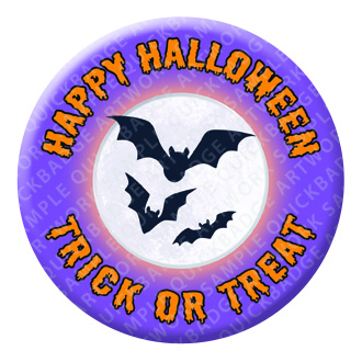 Bat Halloween Button Pin Badge