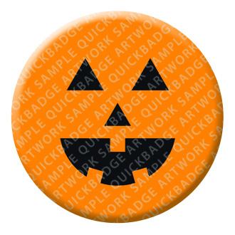 Pumpkin Halloween Button Pin Badge