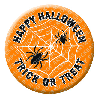 Spiders Web Halloween Button Pin Badge