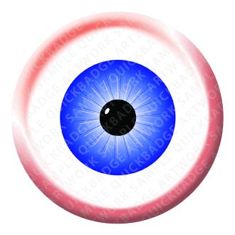 Spooky Eye Halloween Button Pin Badge