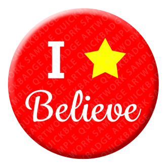 I Believe Button Pin Badge