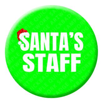 Santas Staff Button Pin Badge