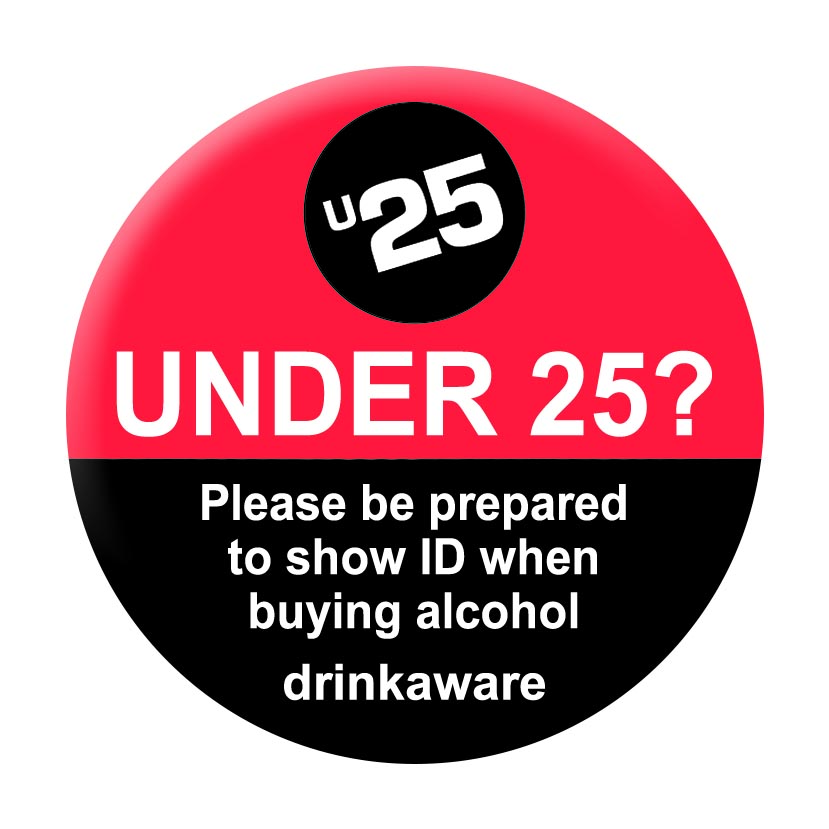 Challenge 25 Pin Badges - drink aware