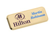 Rectangle Metal Name Badge 62mm x 25mm