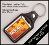 Leather Style Insert Keyring QBMD-40