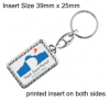 Silver Plated Keyring QBMG-40D