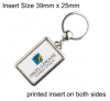 Silver Plated Keyring QBML-40D
