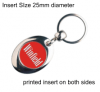Silver Plated Keyring QBMP-25D