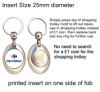 Silver Plated Shopping Trolley Keyring QBMZ-25