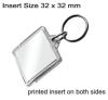 Clear Acrylic Keyring QB-U1