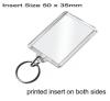 Clear Acrylic Keyring QB-C1