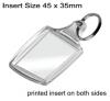 Clear Acrylic Keyring QB-A5