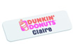 Custom Plastic Name Badge 76mm x 25mm