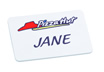Custom Plastic Name Badge 76mm x 50mm
