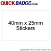 Custom Stickers 40x25mm