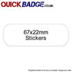Custom Stickers 67x22mm