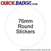 Custom Stickers 76mm Round