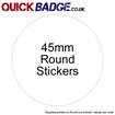 Custom Stickers 45mm Round
