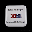 38mm (1 1/2 inch) Square Custom Pin Badges