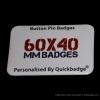 60mm x 40mm Custom Rectangle Pin Badges