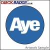 38mm (1 1/2 Inch) Aye Blue Pin Badges