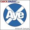 38mm (1 1/2 Inch) Aye Cross Pin Badges