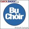 38mm (1 1/2 Inch) Bu Choir Blue Pin Badges