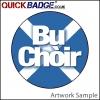 38mm (1 1/2 Inch) Bu Choir Cross Pin Badges