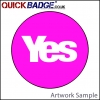 38mm (1 1/2 Inch) Yes Pink Pin Badges