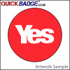 38mm (1 1/2 Inch) Yes Red Pin Badges