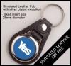 Yes Leather Style Insert Keyring QBMD-25