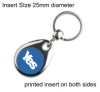 Yes Silver Plated Keyring QBMH-25D