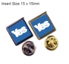 Yes Square Insert Lapel (15x15mm).
