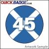 38mm (1 1/2 Inch) 45 Cross Pin Badges