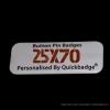 25mm x 70mm Custom Rectangle Pin Badges