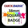 38mm (1 1/2 inch) Square Custom Button Pin Badges
