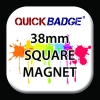 38mm (1 1/2 inch) Custom Square Fridge Magnets