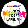 Insert Lapel Pin- Round 25mm