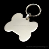 Polished Chrome or Brass Medium Bone Pet Tag