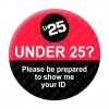 Under 25 - Red/Black Pin Badges