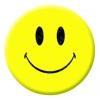 Smiley Face Button Pin Badge
