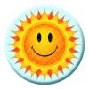 Sunshine Smiley Button Pin Badge