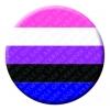 Gender Fluid Button Pin Badge